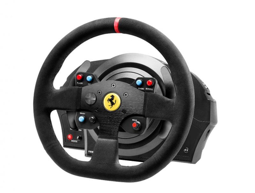 THRUSTMASTER T300 FERRARI ALCANTARA VOLANTE CON PEDALIERA COMPATIBILE PS3/PS4/WIN XP/VISTA/7 COLORE NERO 2