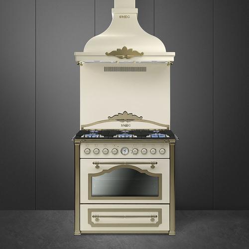 CC9GPO - Smeg CC9GPO Cucina Cortina Panna Ottone - Cucine a ...