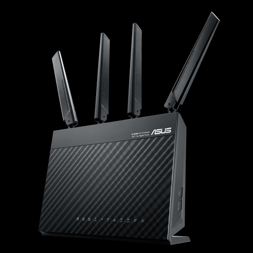 ASUS 4G-AC68U router wireless Dual-band (2.4 GHz/5 GHz) Gigabit Ethernet 3G Nero 4