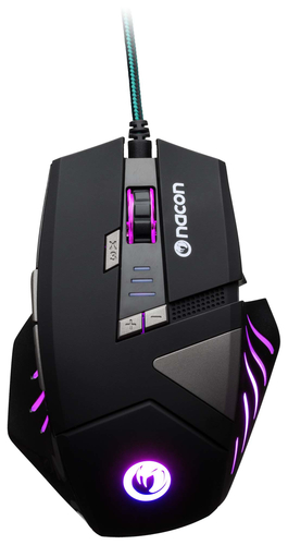 NACON PCGM-300 MOUSE GAMING OTTICO USB 2500 DPI 8 TASTI COLORE NERO 2