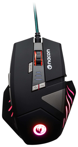 NACON PCGM-300 MOUSE GAMING OTTICO USB 2500 DPI 8 TASTI COLORE NERO 3