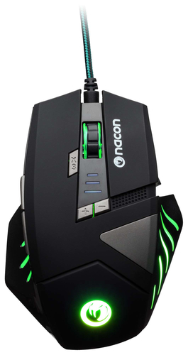 NACON PCGM-300 MOUSE GAMING OTTICO USB 2500 DPI 8 TASTI COLORE NERO 4