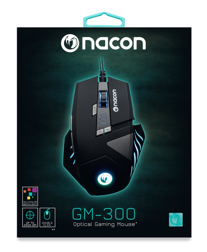 NACON PCGM-300 MOUSE GAMING OTTICO USB 2500 DPI 8 TASTI COLORE NERO 18