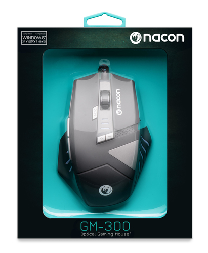 NACON PCGM-300 MOUSE GAMING OTTICO USB 2500 DPI 8 TASTI COLORE NERO 19