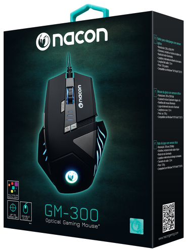 NACON PCGM-300 MOUSE GAMING OTTICO USB 2500 DPI 8 TASTI COLORE NERO 20